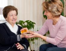 Serving elder female